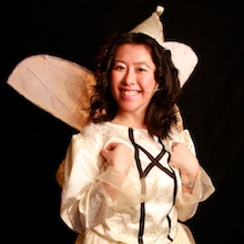 Me as a fairy in our local community pantomime!